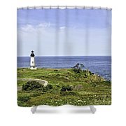 Lighthouse From Salal Hill Shower Curtain