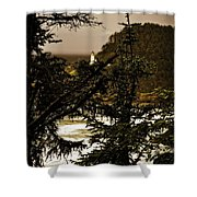 Lighthouse From The Distance Shower Curtain