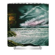 Lighthouse Glow Shower Curtain