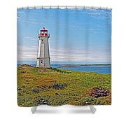 Lighthouse In Louisbourgh-ns Shower Curtain