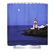 Lighthouse In Moon Light Shower Curtain