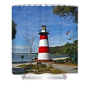 Lighthouse In Mount Dora Shower Curtain