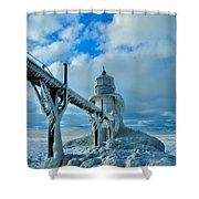 Lighthouse In Saint Joseph Michigan Shower Curtain