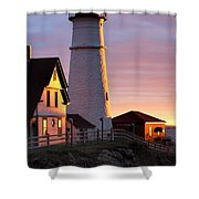 Lighthouse In The Morning Shower Curtain