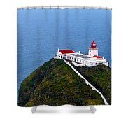 Lighthouse In The Sky Shower Curtain