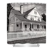 Lighthouse Keepers House  Shower Curtain