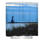 Lighthouse Lit Shower Curtain