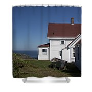 Lighthouse Monhegan Color Shower Curtain