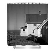 Lighthouse Monhegan Shower Curtain