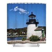 Lighthouse Mystic Seaport Shower Curtain
