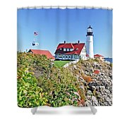 Lighthouse Of Maine Shower Curtain