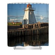 Lighthouse On A Channel By Cascumpec Bay On Prince Edward Island No. 095 Shower Curtain