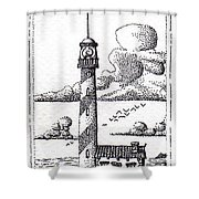 Lighthouse On A Cliff Bookmark Shower Curtain