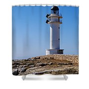 Lighthouse On Cap De Barbaria On Formentera Shower Curtain