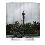 Lighthouse On Sanibel Island Shower Curtain