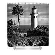 Lighthouse On The Bluff Shower Curtain