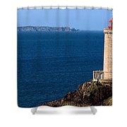 Lighthouse On The Coast, Phare Du Petit Shower Curtain