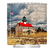 Lighthouse On The Delaware Shower Curtain