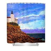 Lighthouse Overlook Shower Curtain