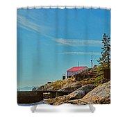 Lighthouse Park Shower Curtain