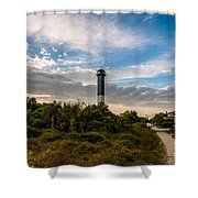 Lighthouse Pathway Shower Curtain