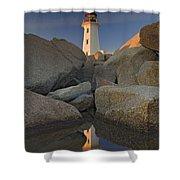 Lighthouse, Peggys Cove, Nova Scotia Shower Curtain