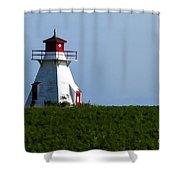 Lighthouse Prince Edward Island Shower Curtain by Edward Fielding