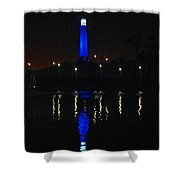 Lighthouse San Pedro Bay Shower Curtain