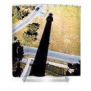 Lighthouse Shadow Shower Curtain