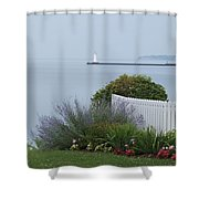 Lighthouse Sodus Bay New York Shower Curtain