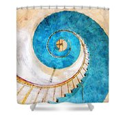 Lighthouse Staircase Shower Curtain