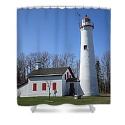 Lighthouse - Sturgeon Point Michigan Shower Curtain