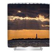 Lighthouse Sun Rays Shower Curtain