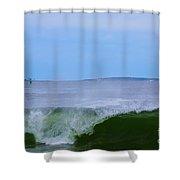 Lighthouse Through Wave Shower Curtain