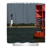 Lighthouse To Buoy Shower Curtain