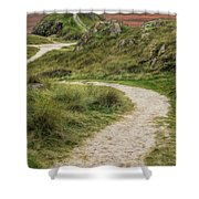 Lighthouse Trail Shower Curtain by Adrian Evans
