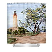Lighthouse Shower Curtain by Victor Collector