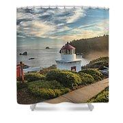 Lighthouse Walk Shower Curtain by Adam Jewell