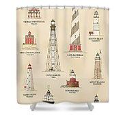 Lighthouses Of The East Coast Shower Curtain