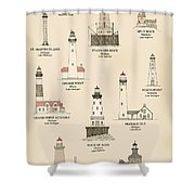 Lighthouses Of The Great Lakes Shower Curtain