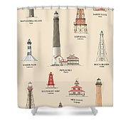 Lighthouses Of The Gulf Coast Shower Curtain
