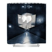 Lighting In Cube Shower Curtain