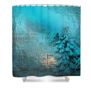 Lighting The Way Through A Frosted Dream Shower Curtain