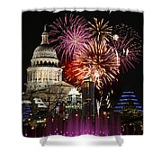 Lighting Up Austin Shower Curtain