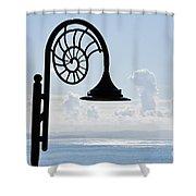 Lighting Up The Ocean Shower Curtain
