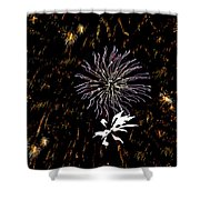 Lighting Up The Sky Shower Curtain