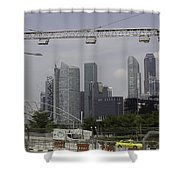 Lighting Work For The Singapore Formula One And A View Of The Helix Bridge Shower Curtain