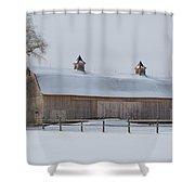 Lightly Browned Barn  7k00040b Shower Curtain