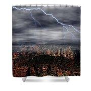 Lightning - North Rim Of Grand Canyon Shower Curtain