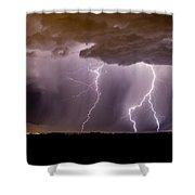 Lightning 11 Shower Curtain
